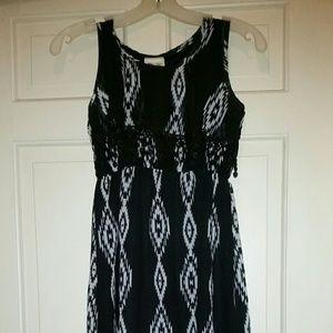 Kiddos Black & White Sleeveless Kids Dress Sz 12